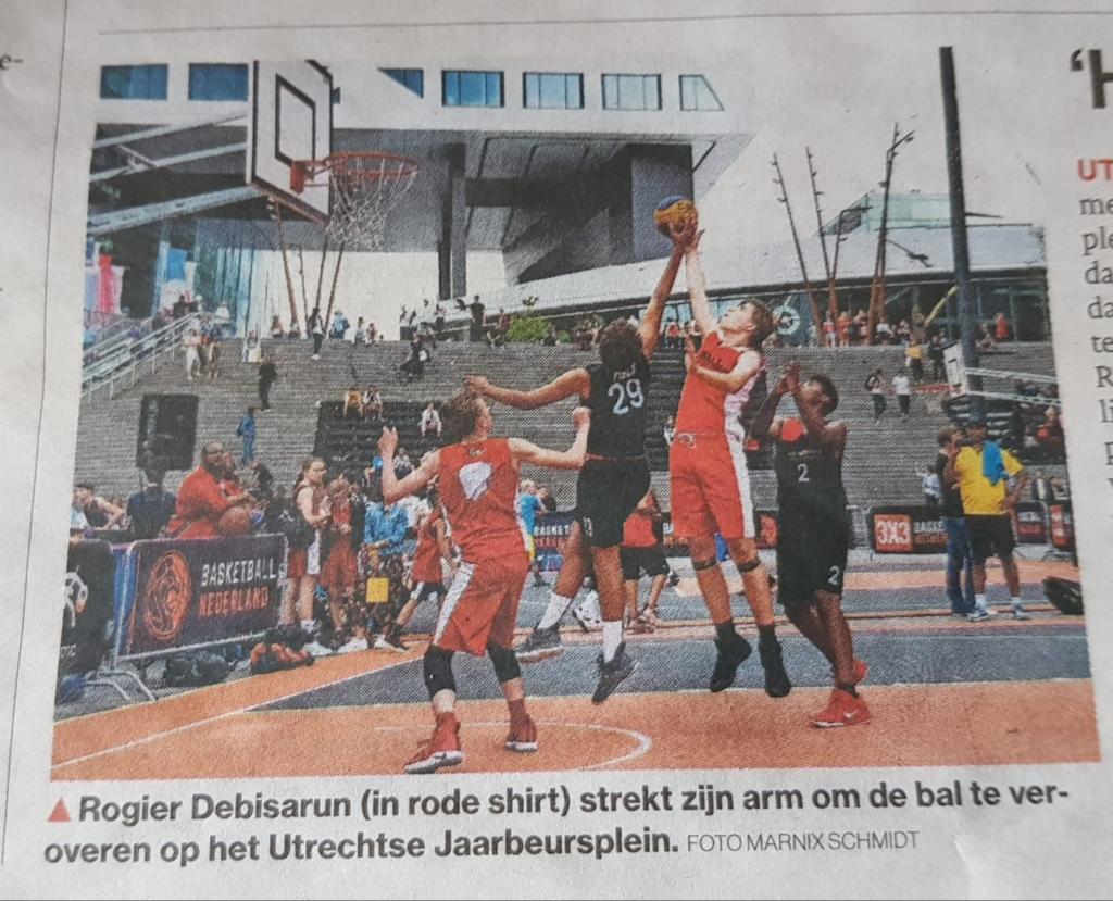 basketbal in de picture op het jaarbeursplein